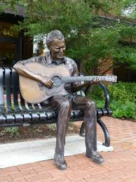 Boone statue guitar player